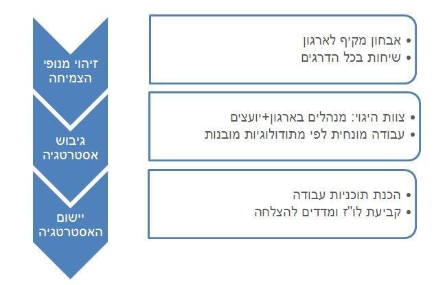 השלבים בייעוץ אסטרטגי
